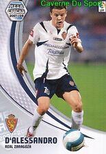 354 ANDRES D'ALESSANDRO ARGENTIN REAL ZARAGOZA TARJETA CARD MGK LIGA 2008 PANINI