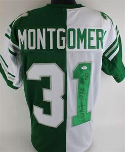 "Wilbert Montgomery ""Eagles HOF 1987"" Signed Philadelphia Eagles Jersey (PSA COA)"