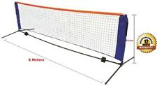New 6 Meter Tennis Net Post Set Mini Portable Foldable Adjustable Height