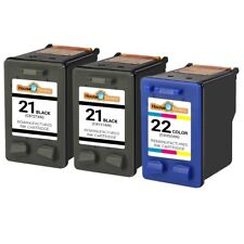 3 PACK for HP 21/22 Ink Cartridge Combo for Officejet J3650 J3680 4315 Printers