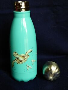 """Wrendale water bottle , small size """"SWIMMING SCHOOL"""" Turtles by Hannah Dale new"""