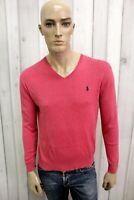RALPH LAUREN Uomo Taglia S Maglione Slim Cotone Casual Sweater Manica Lunga