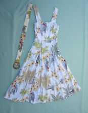 Vintage Wild Rose Multicolor Sundress with Elephants & Tigers Size S