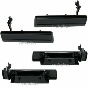 CAMARO & Others OUTSIDE Outer EXTERIOR LEFT RIGHT DOOR HANDLES Handle BLACK PAIR