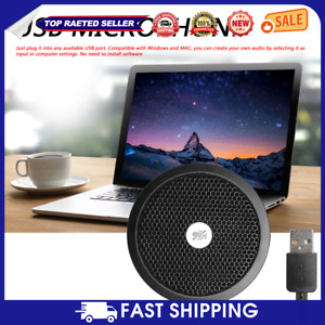 USB Omnidirectional Microphone Video Conference Gaming Speaker for PC PS4