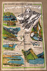 NEW ZEALAND SOUTHERN ALPS TAPESTRY - BY DEREK - CIRCA 1980'S