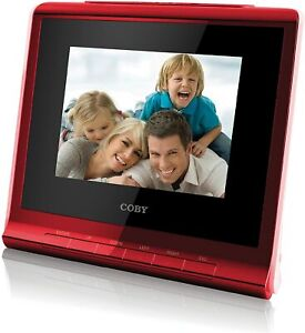 🔥 COBY DP356 Red Digital Photo Album with Alarm Clock USB • New Sealed