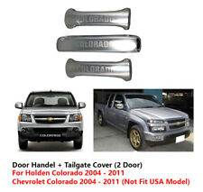 STAINLESS STEEL 2 DOOR + TAILGATE COVER FOR CHEVROLET / HOLDEN COLORADO 02 - 11