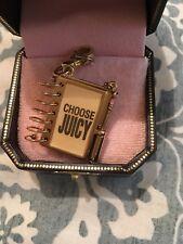 """Juicy Couture Charm """" Pink Spiral Notebook"""" YJRU3074. NIB"""
