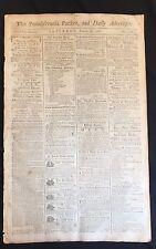 1788 newspaper EASTERN SHORE MARYLAND Advertising WYE RIVER Queenstown Farm Sale