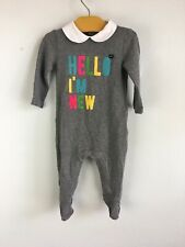 Gucci Baby Girl 6-9 Month Hello I'm New Footie Pajamas One Piece Collar Snap