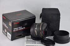 Sigma 10mm f/2.8 EX DC HSM Fisheye Lens For Canon EF-S  Boxed UK Seller