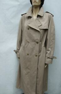 Vintage BARTSONS Harrods Trench Coat Mac Check lining  size L / XL