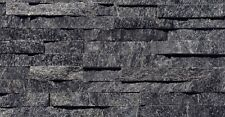 Black Quartzite Split Face Mosaic Sample 150x150 Rock Panels - 3D Wall Cladding
