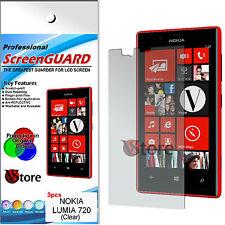 3 Pellicole Per NOKIA Lumia 720 Proteggi Salva Schermo Display LCD Pellicola