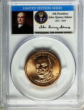 2008 John Quincy Adams PCGS SP67 Missing Edge Lettering Mint Error Dollar