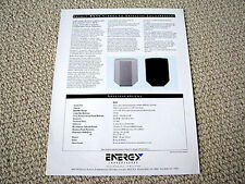 Energy RVSS surround rear speaker brochure catalogue