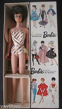 HTF Vintage Barbie European Exclusive Brunette Bubble Cut  MIB with Wrist Tag