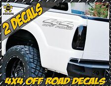 4x4 Truck Bed Decal Set METALLIC SILVER for Ford F-150, Super Duty F-250, Ranger