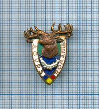 Old Hunting & Fishing Association Enameled Badge/Pin Communist Romania 1970s