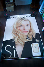 ARMANI SI CATE BLANCHETT C 4x6 ft Bus Shelter Original Celebrity Fashion Poster