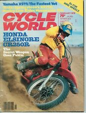 February 1978 Cycle World motorcycle magazine Honda CR250 Yamaha Husqvarna