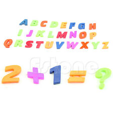 Fridge Magnets Alphabet Set Of 42 Colorful Magnetic Letters & Numbers Teaching