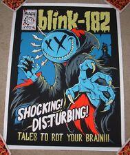 BLINK 182 concert gig poster HALLOWEEN 2014 silkscreen print Brandon Heart