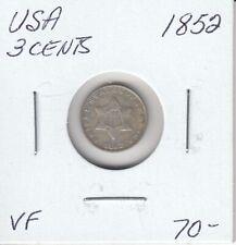 USA 3 CENTS 1852  - VF