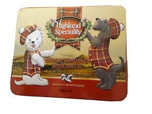 EMPTY Highland Speciality Shortbread Biscuits Tin 200g