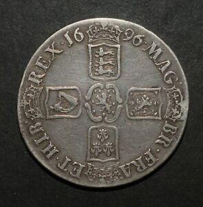 WILLIAM III 1696/5 CROWN. VERY RARE.  ESC 998