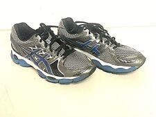 Mens Asics Gel-Nimbus 14 Running Sneakers Shoes Silver/Blue/Black T241N SIZE 10