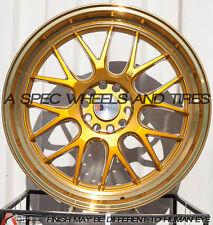 F1R F21 20x8.5 5x114.3/120 Et15 Machine Gold set of 4