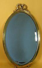 Alter Spiegel - oval -  Messing - Jahrhundertwende #9290