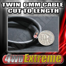 1M X 6MM TWIN RED BLACK 50A CABLE CUT TO LENGTH - DUAL BATTERY INSTALLATION