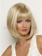 New Fashion Women's Dress Party Wig Capless Caps Wigs Short Blonde Wig