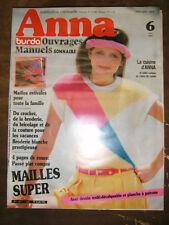 Anna Burda Ouvrages Manuels N°6 1983 Passé plat Maille Tricot Broderie Patron