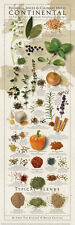 Regional Spices and Culinary Herbs Continental Keating Kitchen Cook Poster 12x36