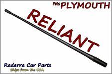 "FITS: 1985-1989 Plymouth Reliant - 13"" SHORT Custom Flexible Rubber Antenna Mast"