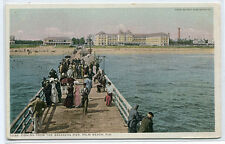 Fishing Pier The Breakers Hotel Palm Beach Florida 1910c Phostint postcard