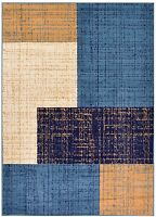 New Squares Navy Contemporary Area Rugs Carpet 2x3 2x7 3x5 5x7 8x10 Rug Runner