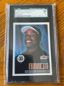 STEVE FRANCIS 199-00 SKYBOX HOOPS ROOKIE CARD SGC GRADED 96 MINT..!!  GRIZZLIES