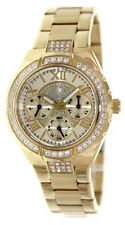 GUESS Women's Sparkling Hi-Energy Analog Gold-Tone Watch W0111L2
