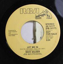 Rock Promo 45 Nick Gilder - Let Me In / Let Me In On Rca