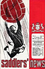 WALSALL V   TRANMERE ROVERS 3RD DIVISION  21/1/69