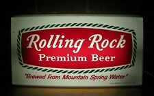 ROLLING ROCK PREMIUM BEER DOUBLE SIDED LIGHTED SIGN BAR PUB TAVERN AD *A2PS