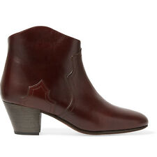 Isabel Marant Dicker Boots in Cognac Calf Leather Size FR 38