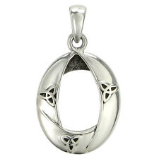 Sterling Silver Celtic Knot Woven Triquetra Pendant - Trinity Knotwork Jewelry