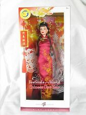 CHINESE NEW YEAR BARBIE DOLL, DOLLS OF THE WORLD FESTIVALS OF THE WORLD COLLECT.