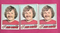 3 X 1977-78 OPC # 239 WINGS JIM RUTHERFORD GOALIE  CARD (INV# C8743)